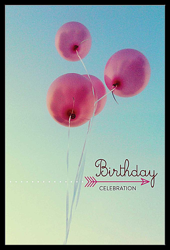 Birthday Balloons front - Invitation Cards Maker