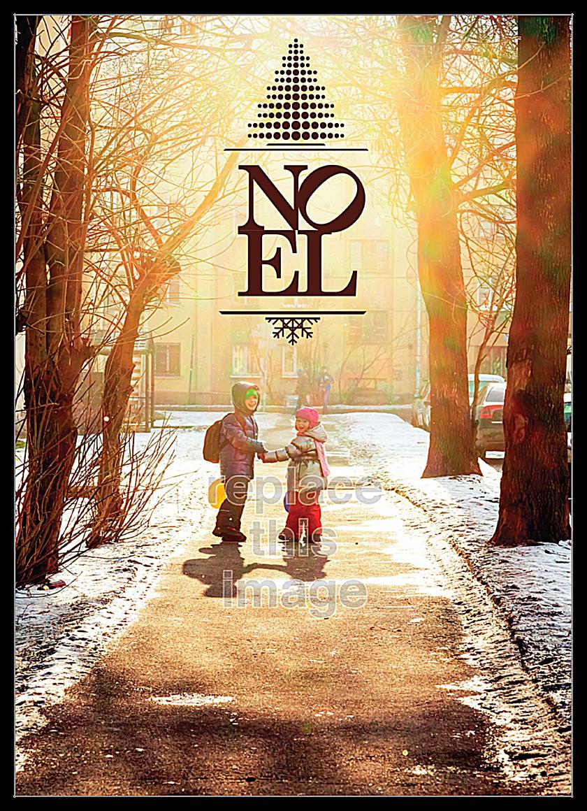 Noel Image front - Invitation Cards Maker