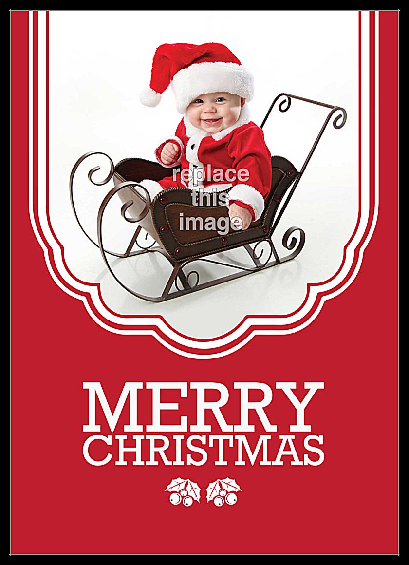 Child Sled front - Invitation Cards Maker