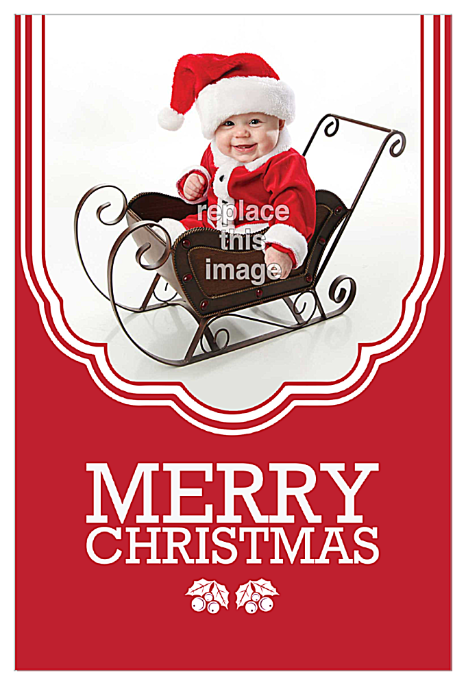 Child Sled front - Invitation Cards Maker