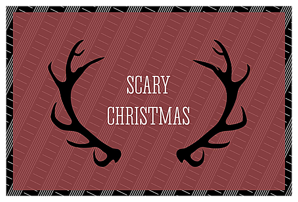 Scary Antlers front - Invitation Cards Maker