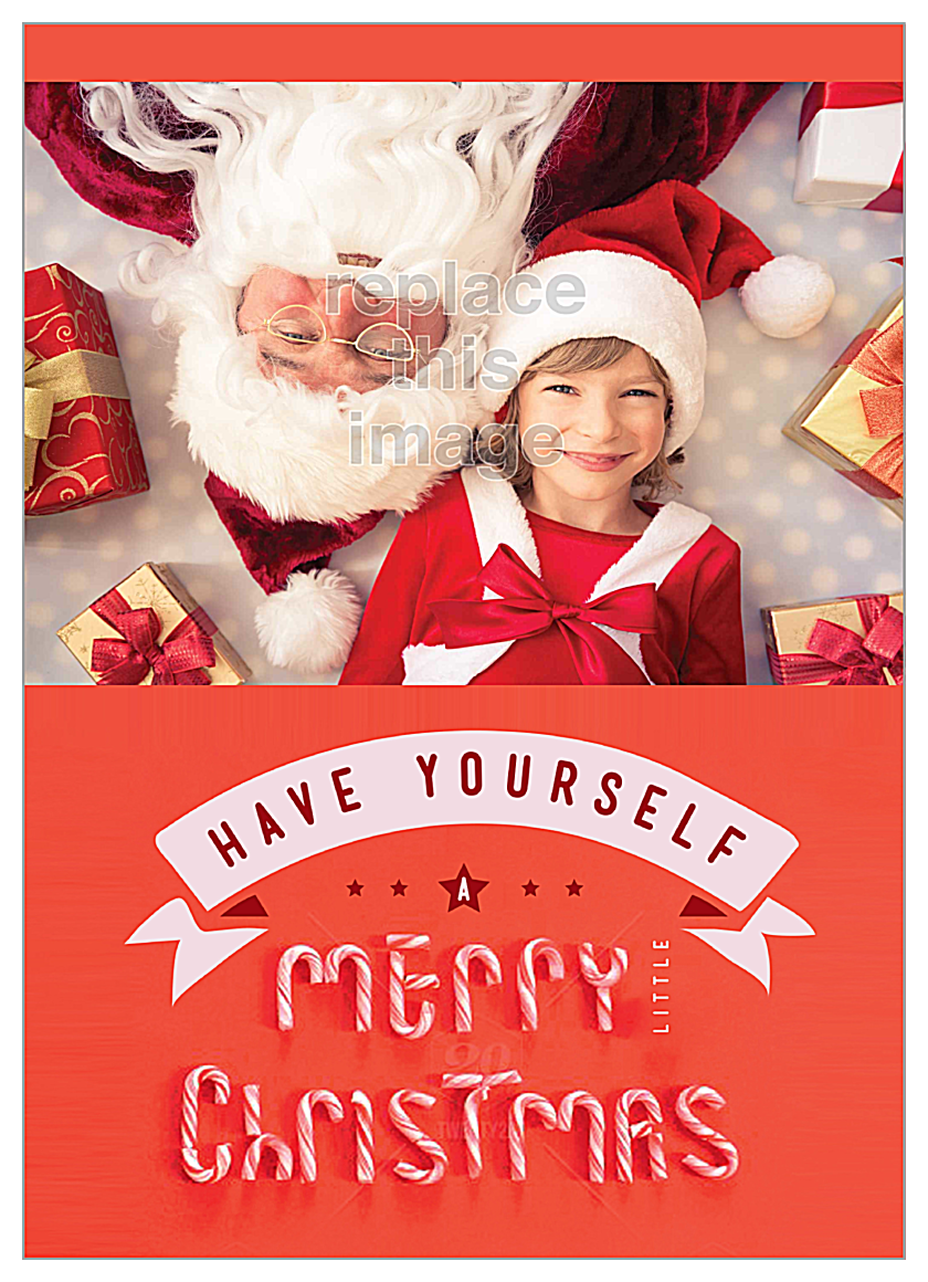 Candy Christmas front - Invitation Cards Maker