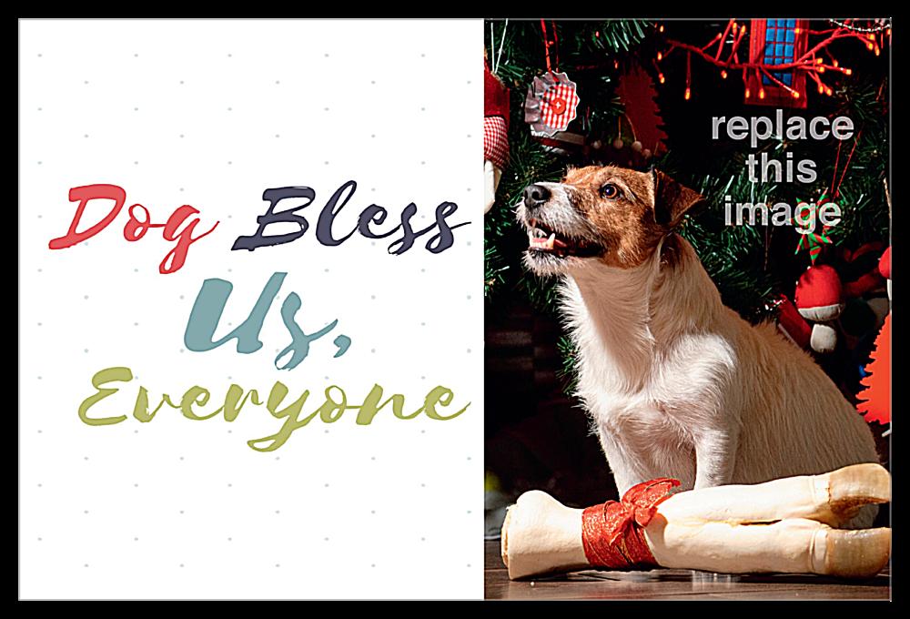 Dog Bless front - Invitation Cards Maker