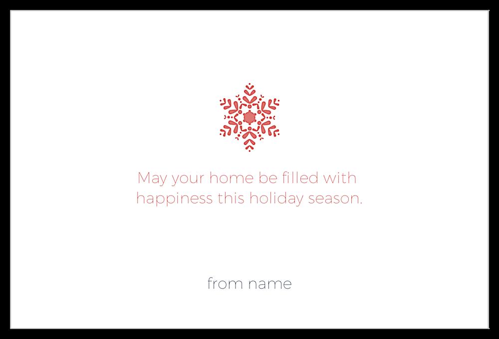 Holiday snowflake back - Invitation Cards Maker