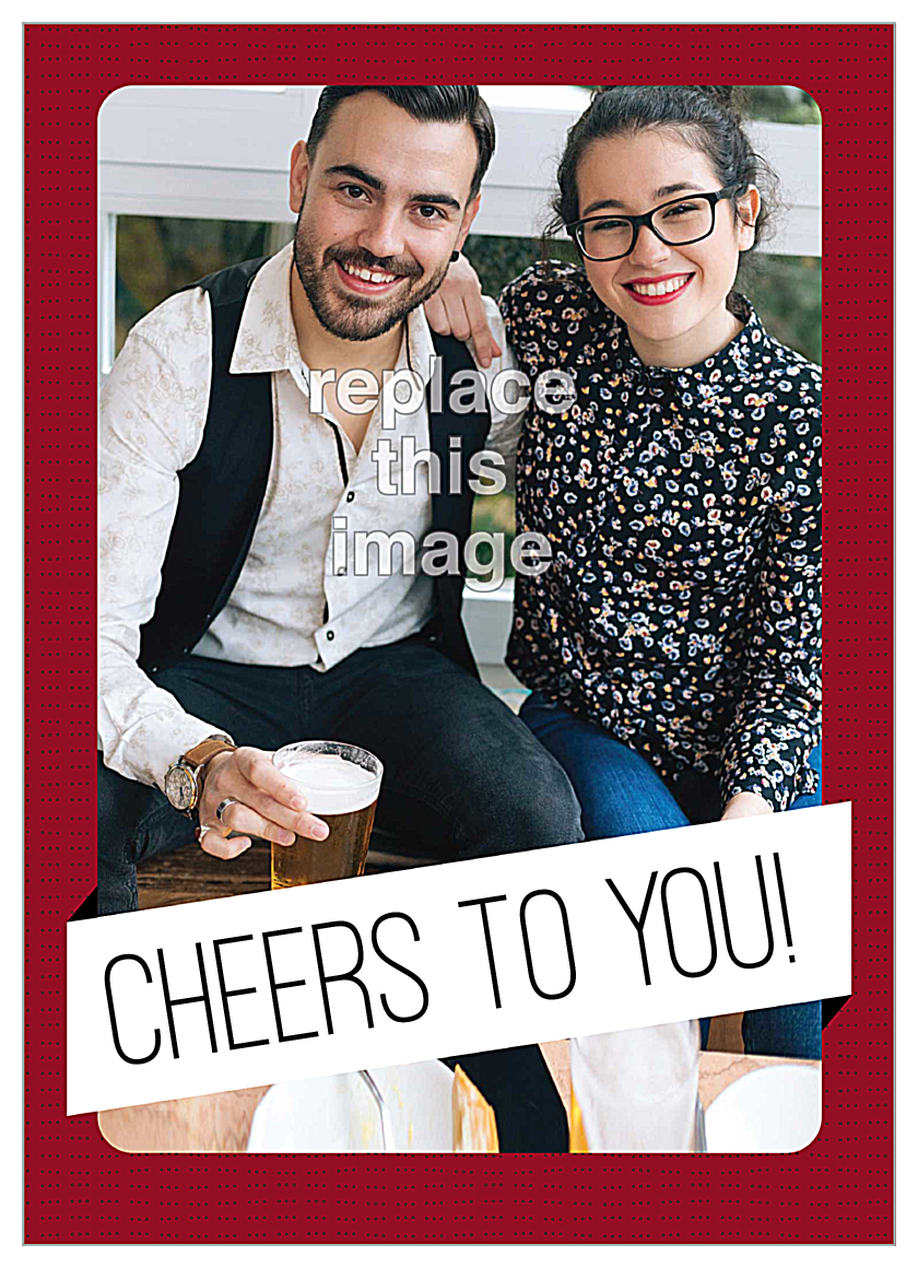 Cheers Banner front - Invitation Cards Maker
