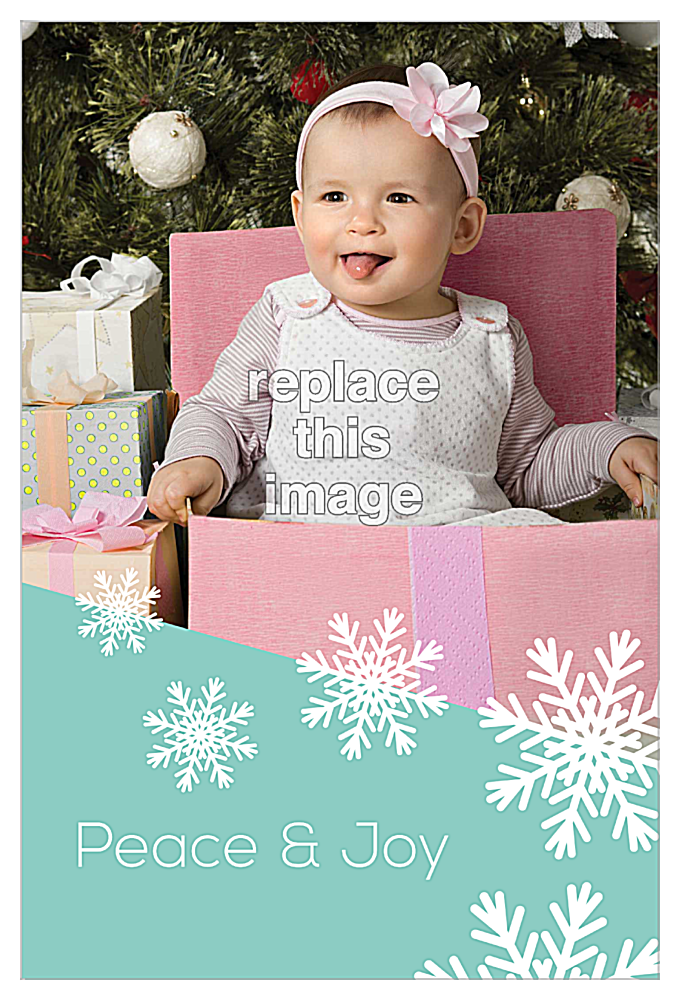 Snow Flake front - Invitation Cards Maker