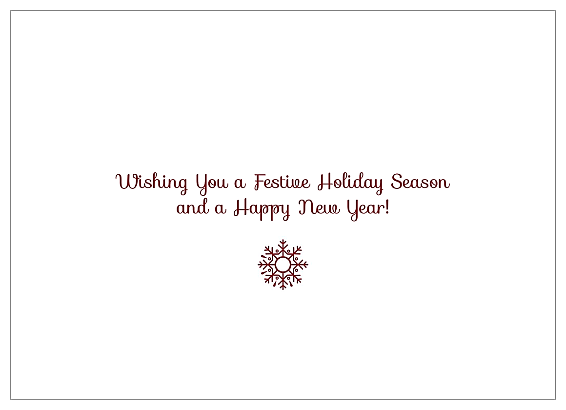 Holiday Flakes back - Invitation Cards Maker