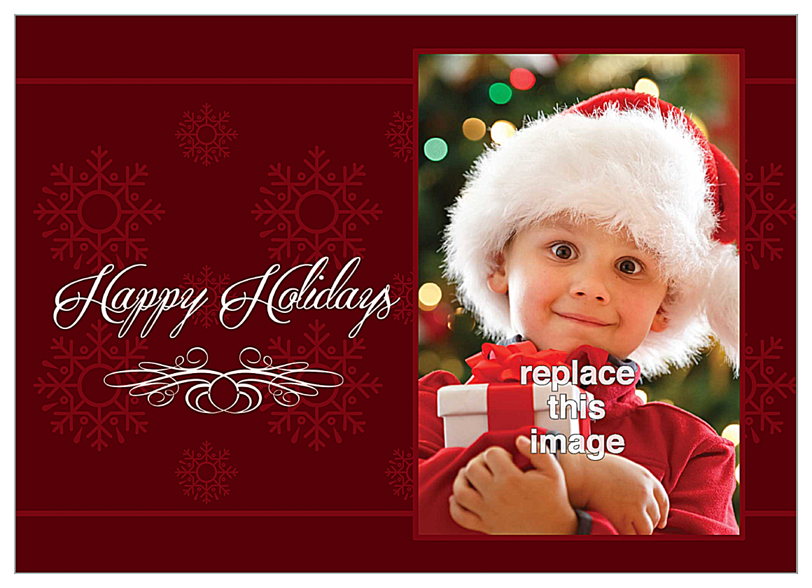Holiday Flakes front - Invitation Cards Maker