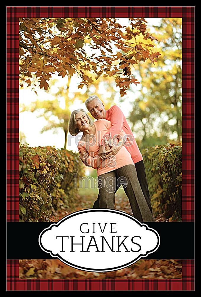 Thanks Plaid front - Invitation Cards Maker