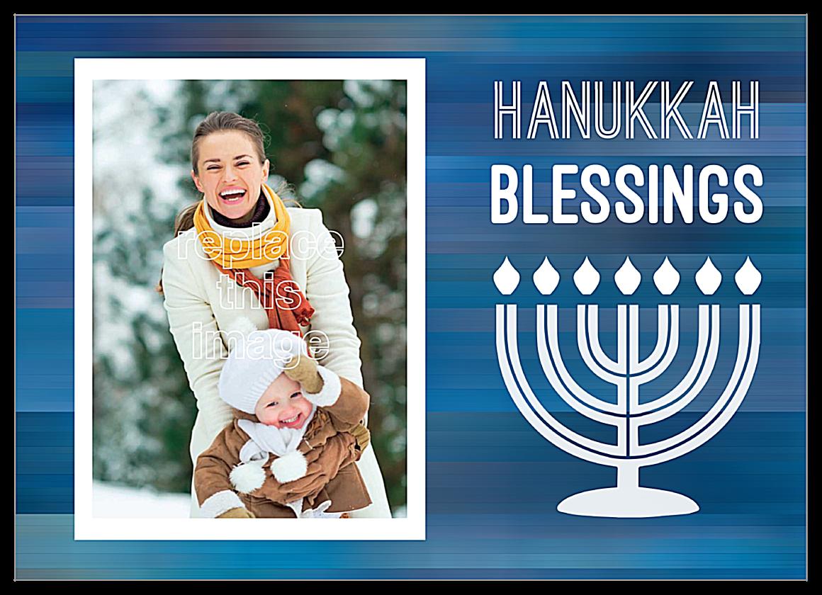Blessings for Hanukkah front - Invitation Cards Maker