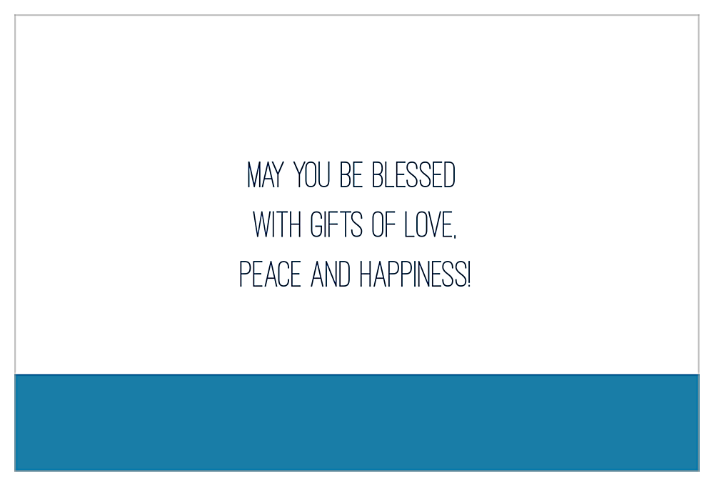 Blessings for Hanukkah back - Invitation Cards Maker