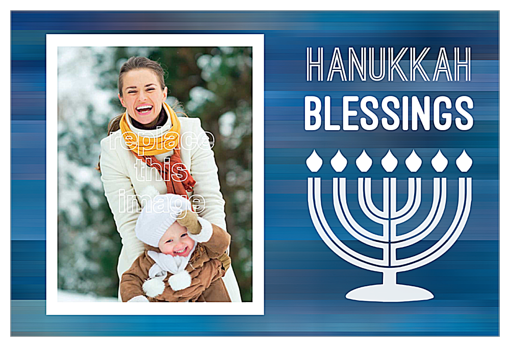 Blessings for Hanukkah front - Invitation Cards Maker