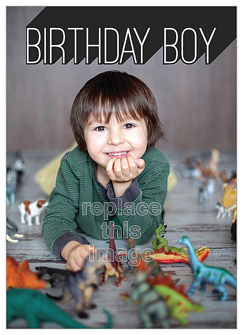 Universe Boy front - Invitation Cards Maker