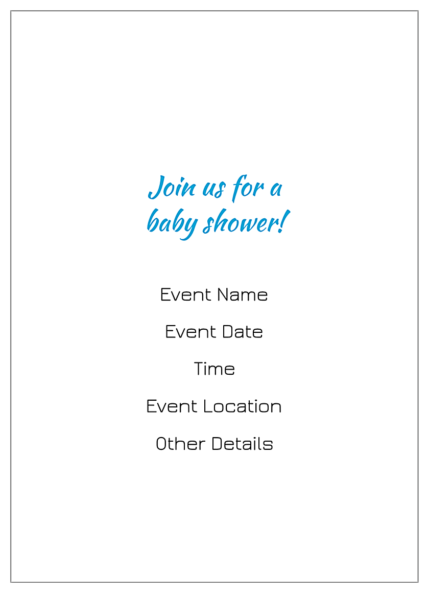 Baby Shoes back - Invitation Cards Maker