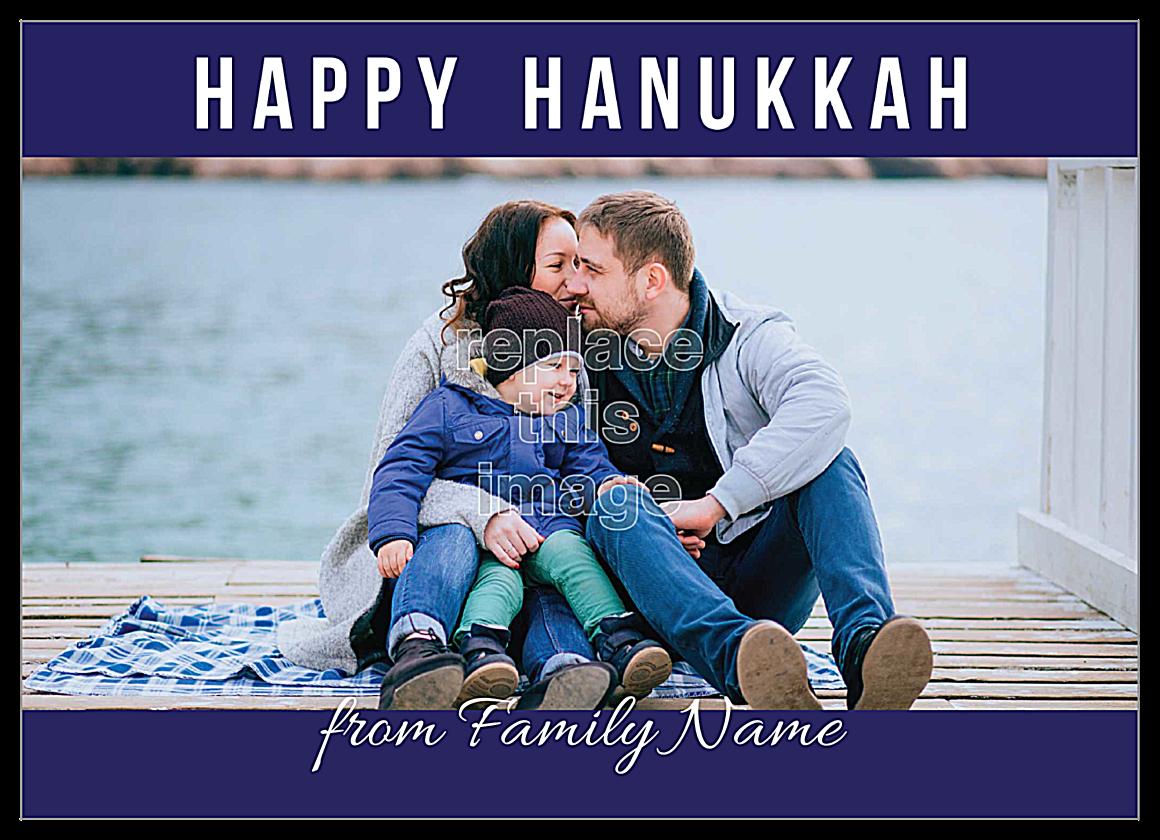 Hanukkah Wishes front - Invitation Cards Maker