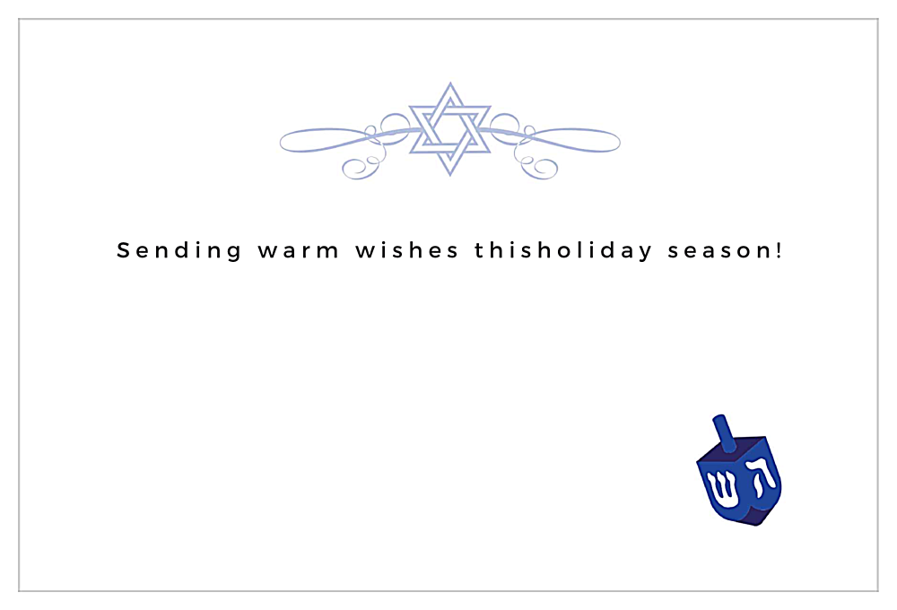 Hanukkah Wishes back - Invitation Cards Maker
