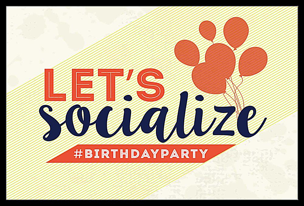 Social Birthday front - Invitation Cards Maker
