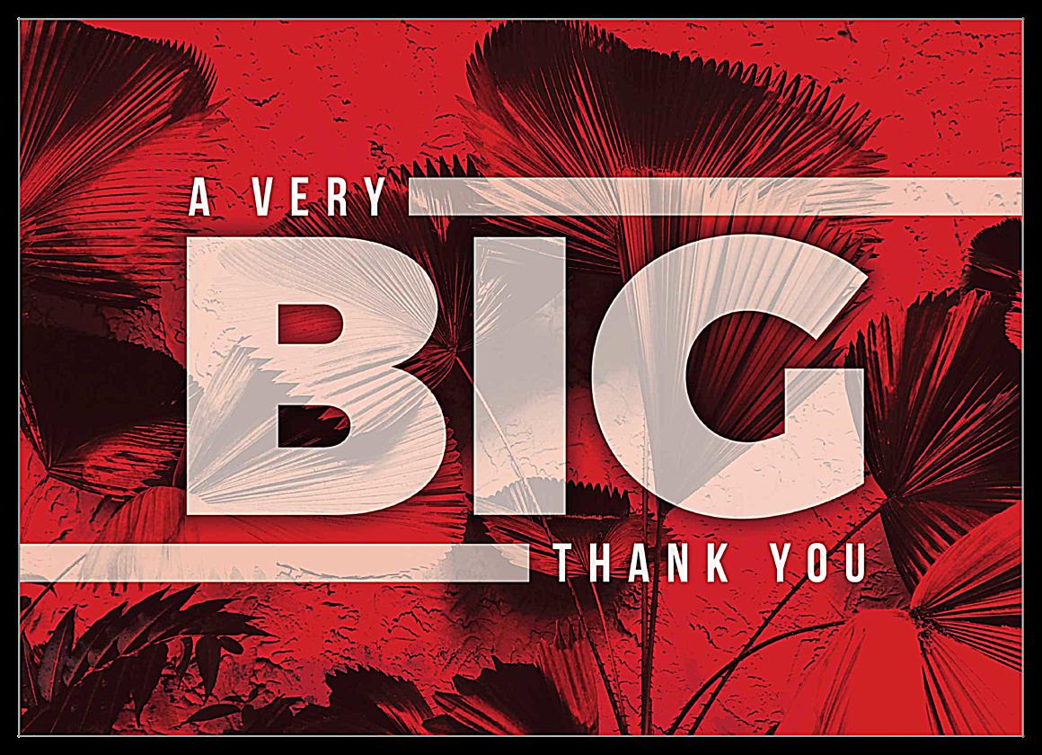 Big Thanks front - Invitation Cards Maker