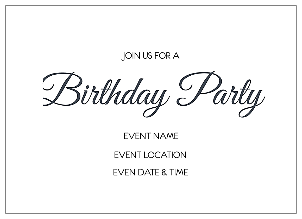 Fun Birthday back - Invitation Cards Maker