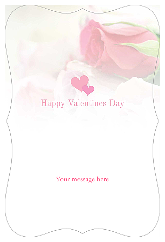 Valentine Roses back - Invitation Cards Maker
