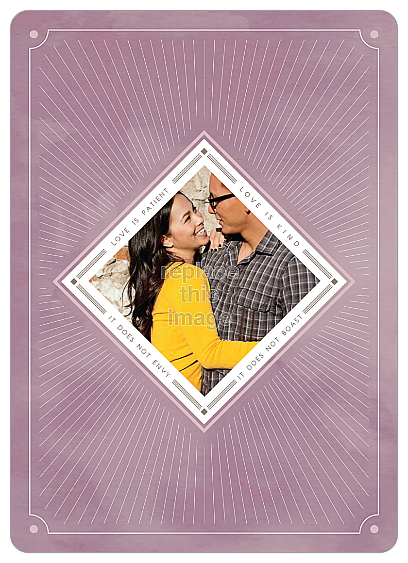 Love is Radiant front - Invitation Cards Maker