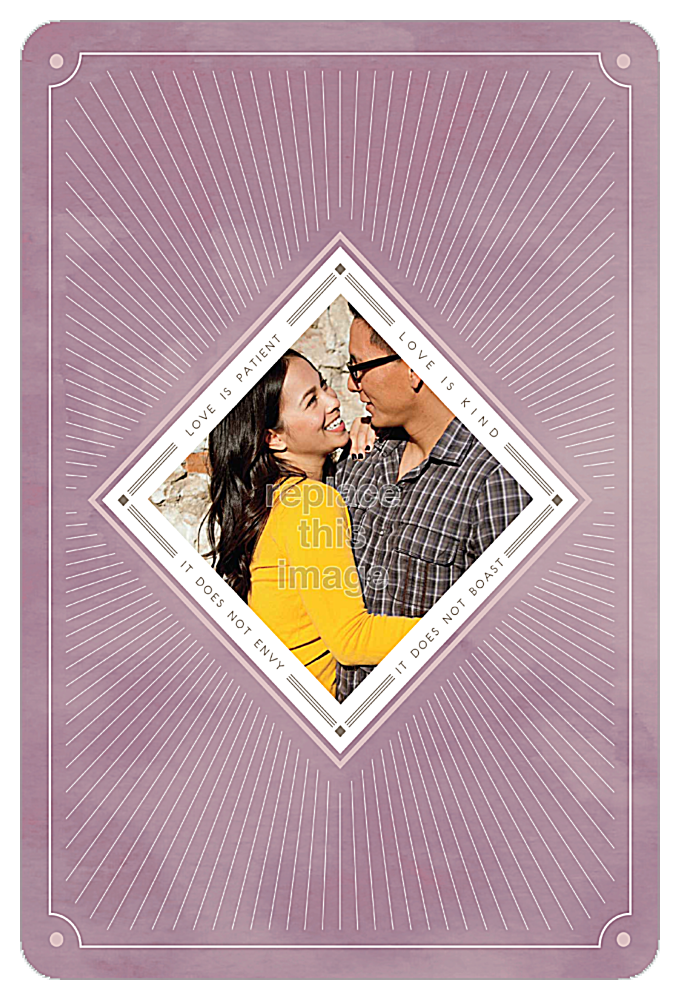 Love is Radiant front - Invitation Cards Maker