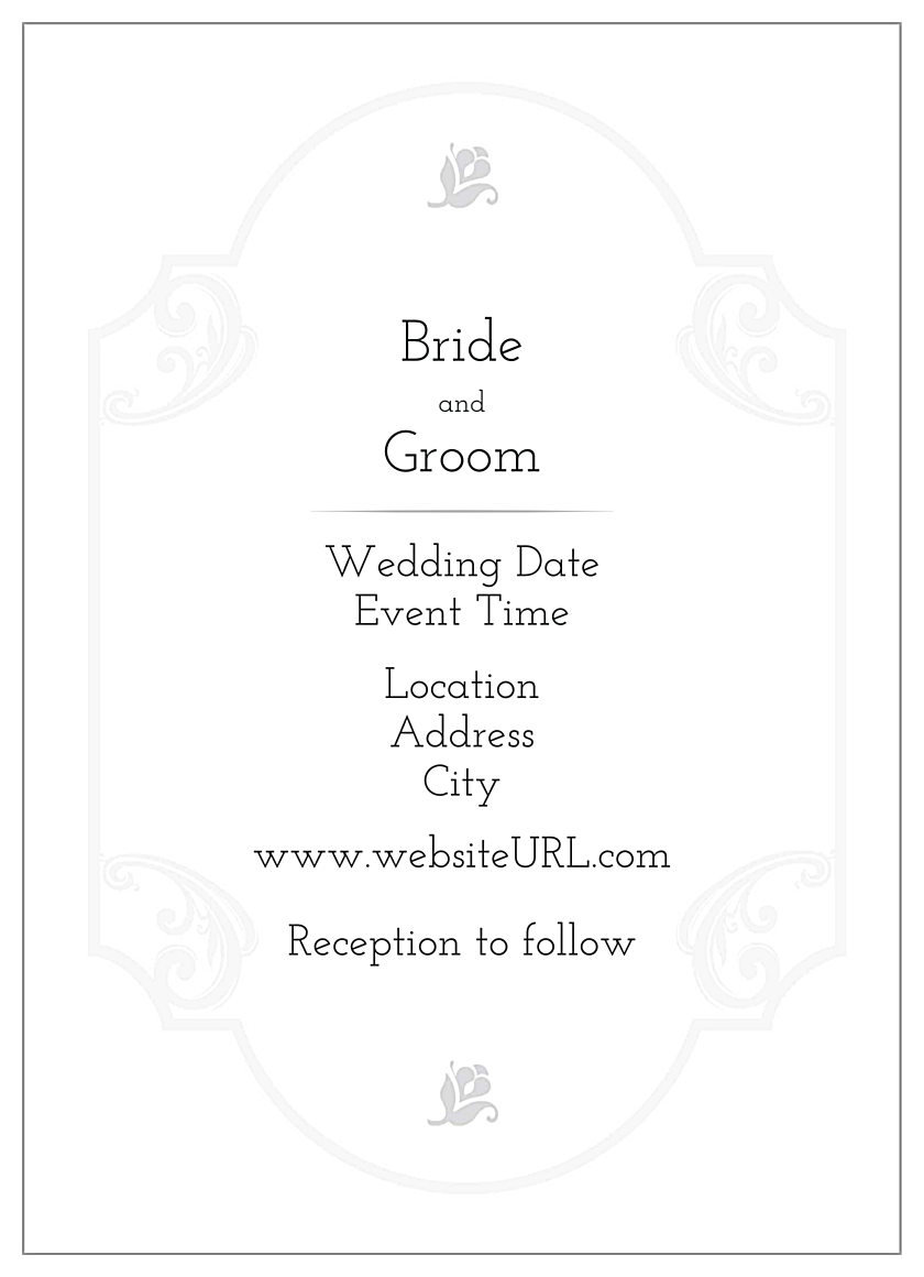 Floral Wedding back - Invitation Cards Maker