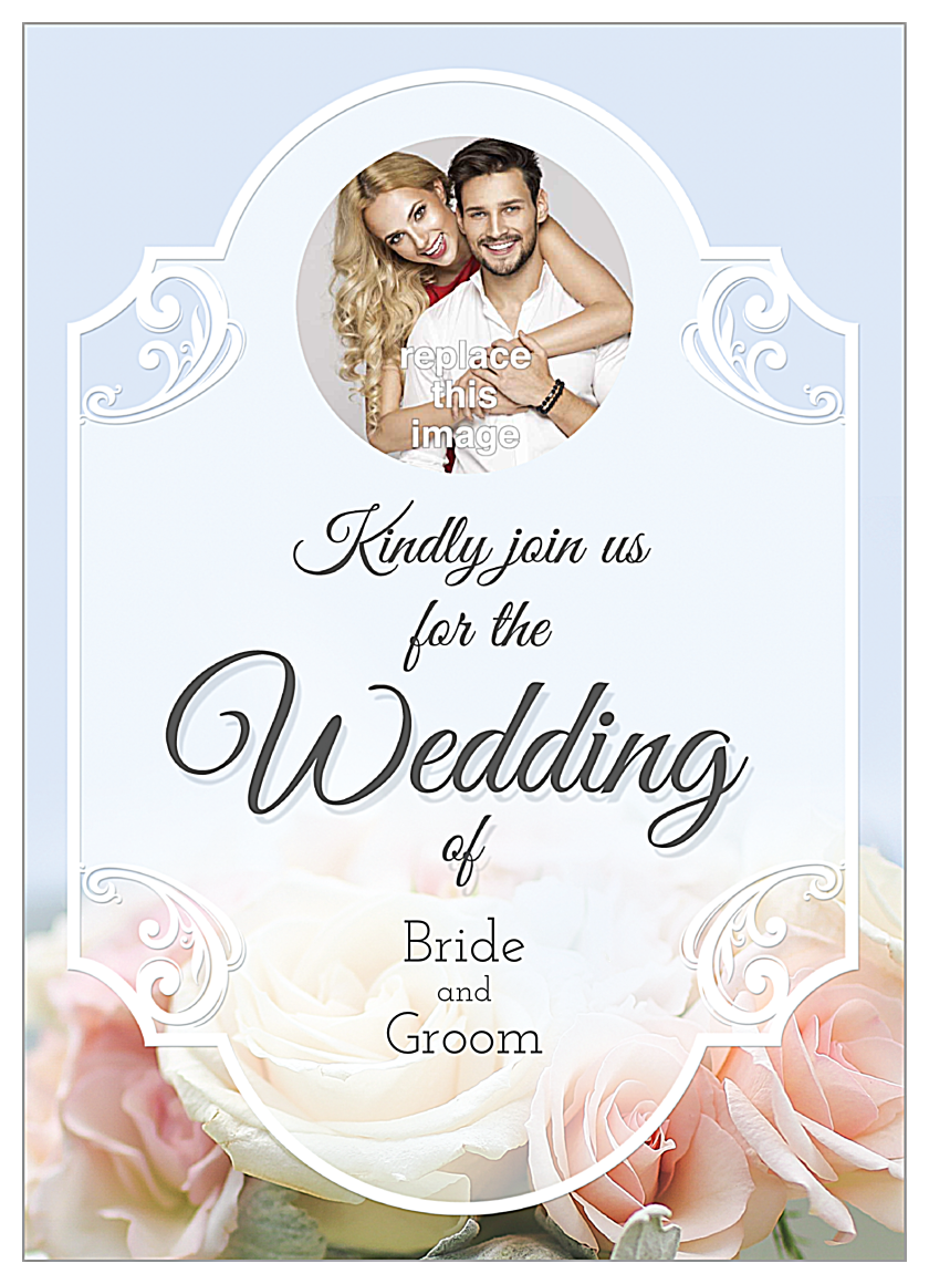 Floral Wedding front - Invitation Cards Maker