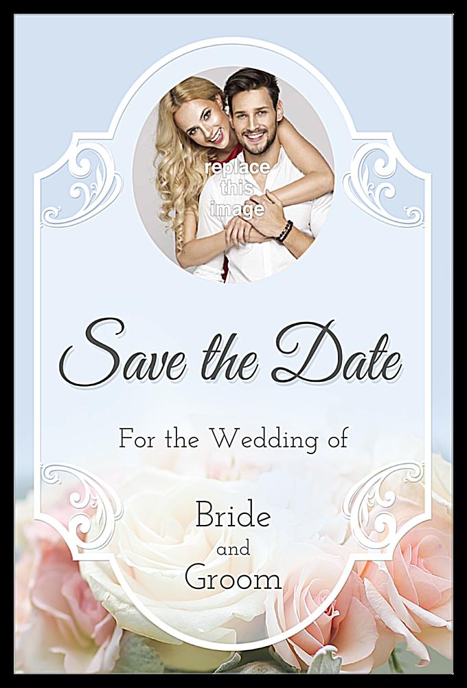 Floral Wedding front - Invitation Cards Maker