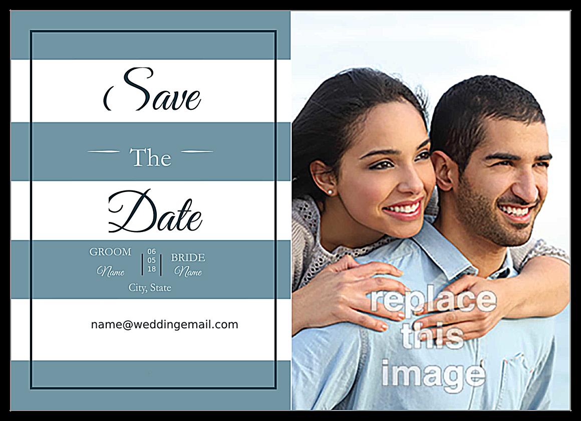 Wedding Stripes front - Invitation Cards Maker