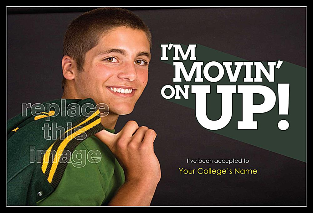 I'm Movin' On Up front - Invitation Cards Maker