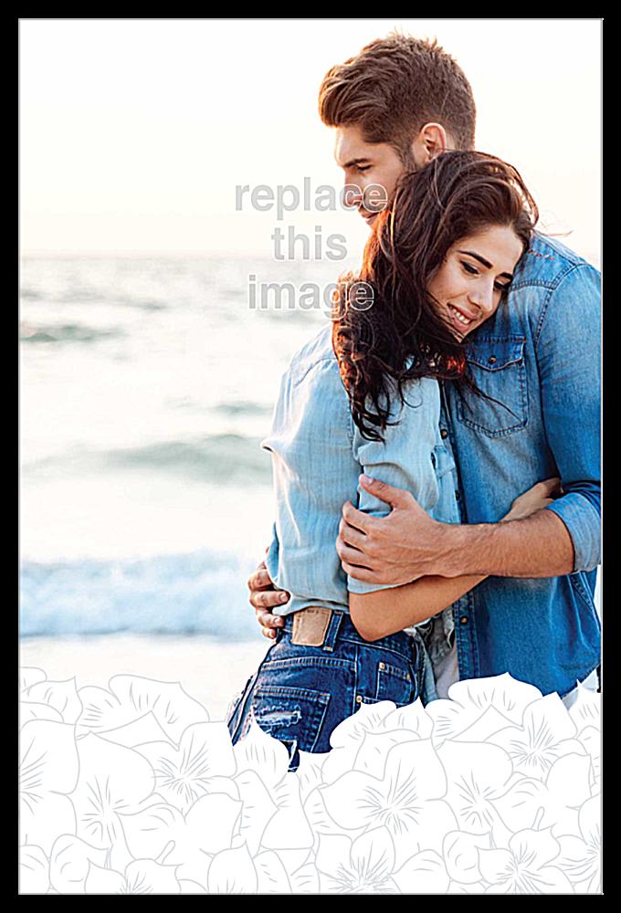 Coastal Hydrangea back - Invitation Cards Maker