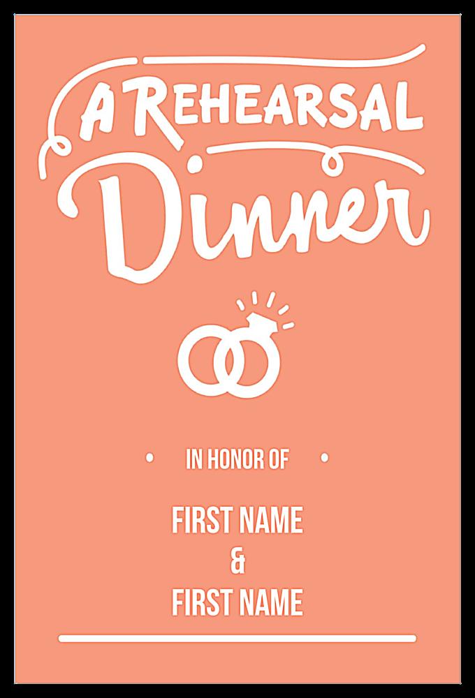 Practice at Dinner front - Invitation Cards Maker