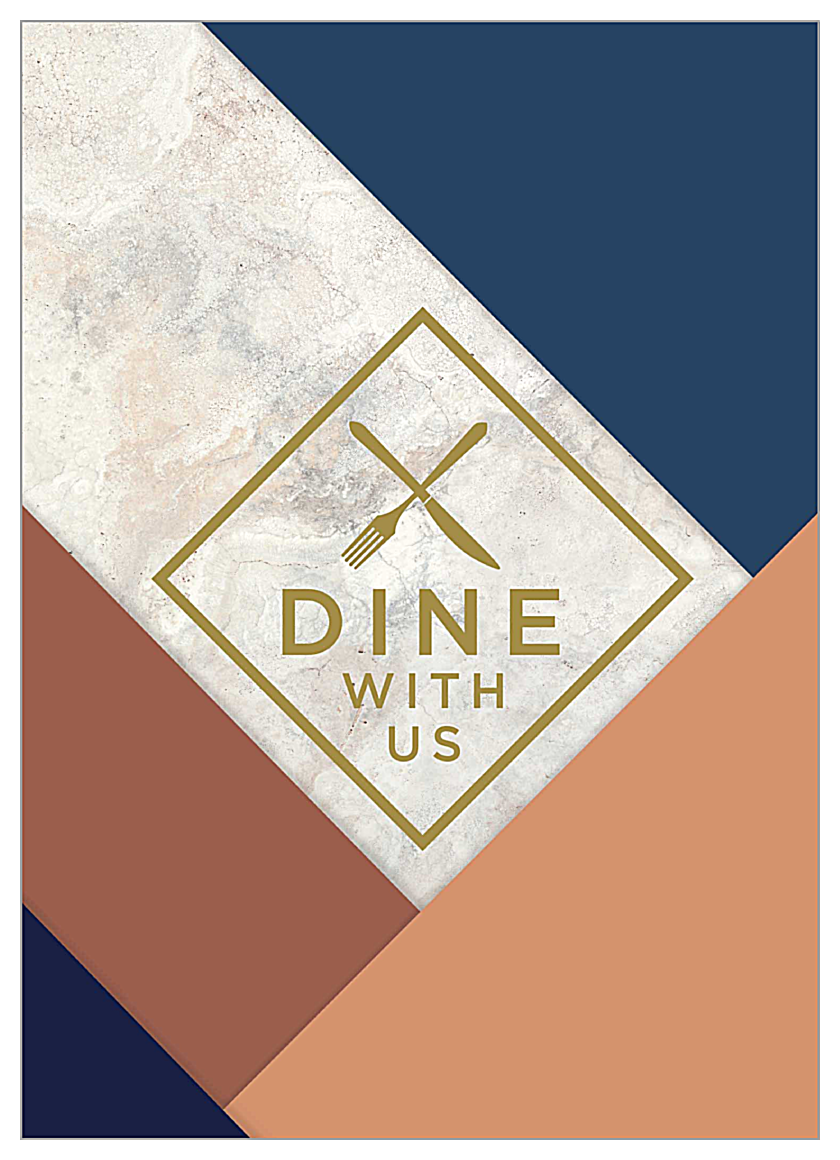 Dine With Us front - Invitation Cards Maker