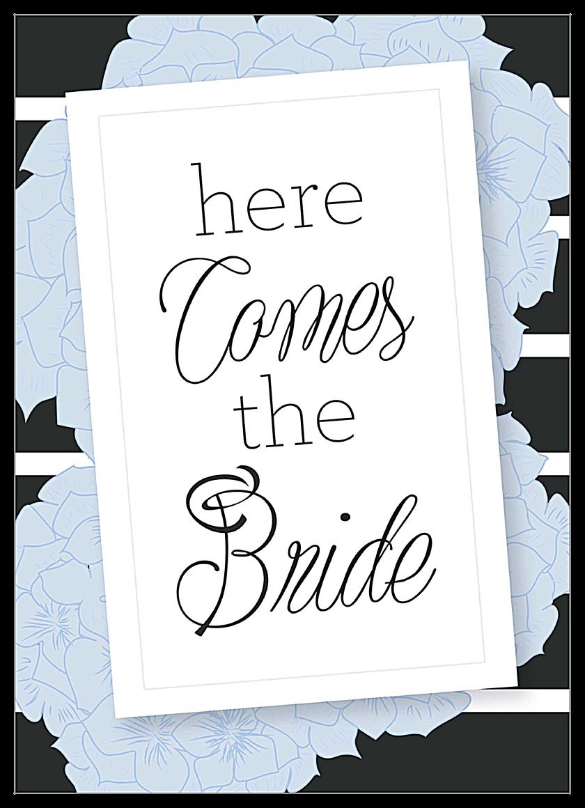 Hydrangea Bridal Shower front - Invitation Cards Maker