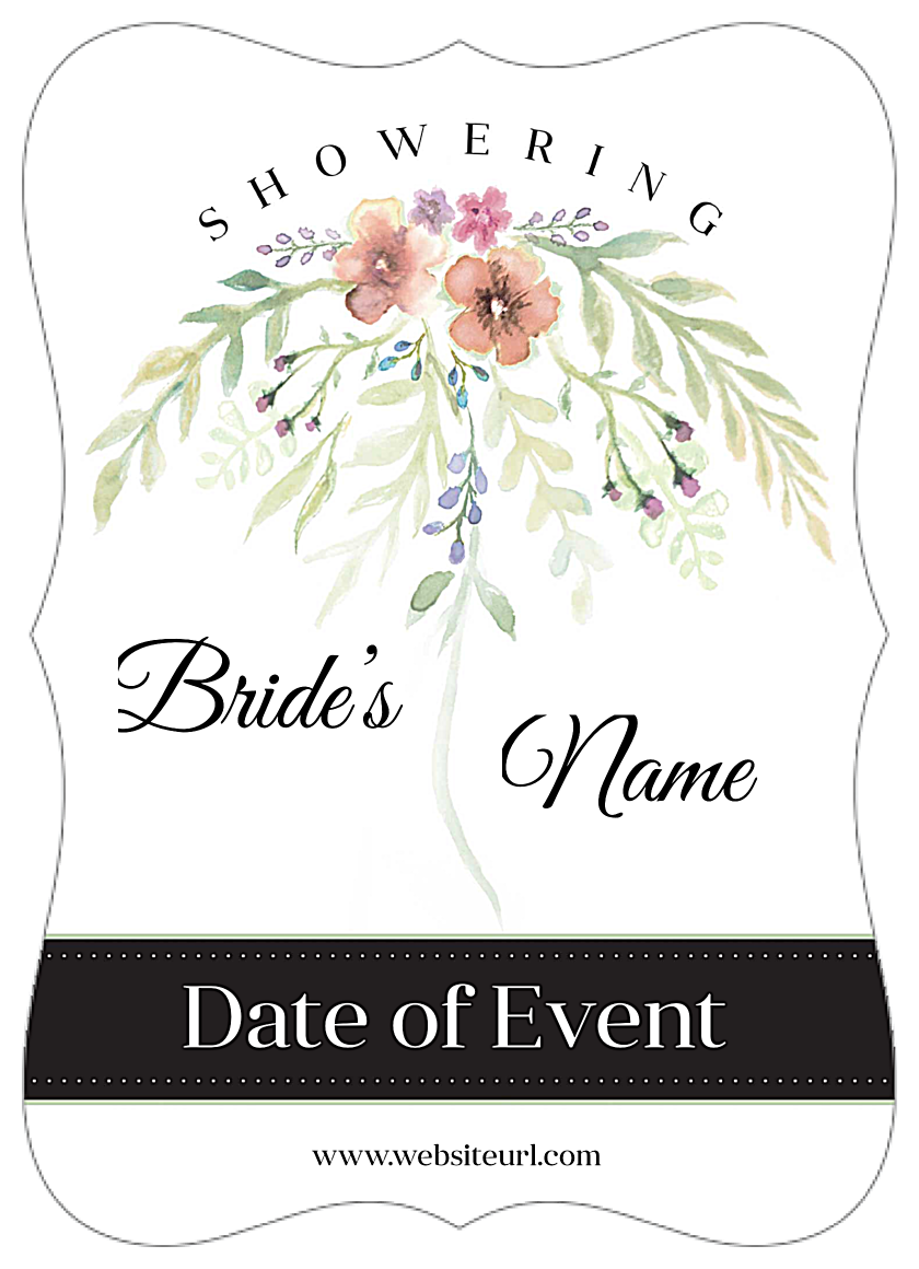 Flower Shower front - Invitation Cards Maker