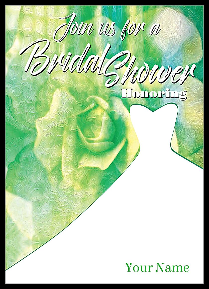 Floral Dress front - Invitation Cards Maker