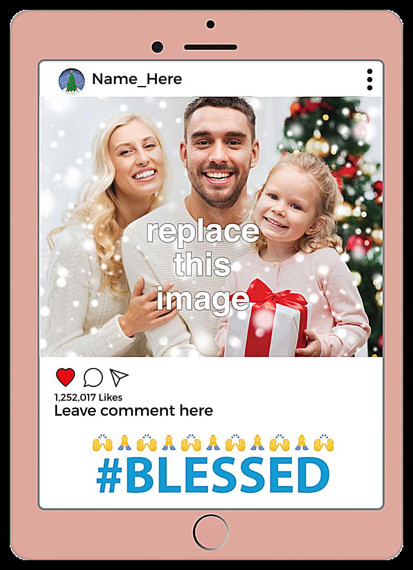 Blessed front - Invitation Cards Maker