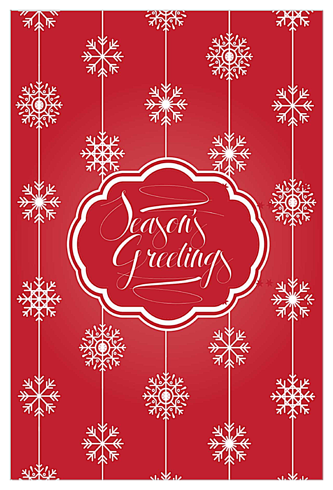 Snowflakes front - Invitation Cards Maker