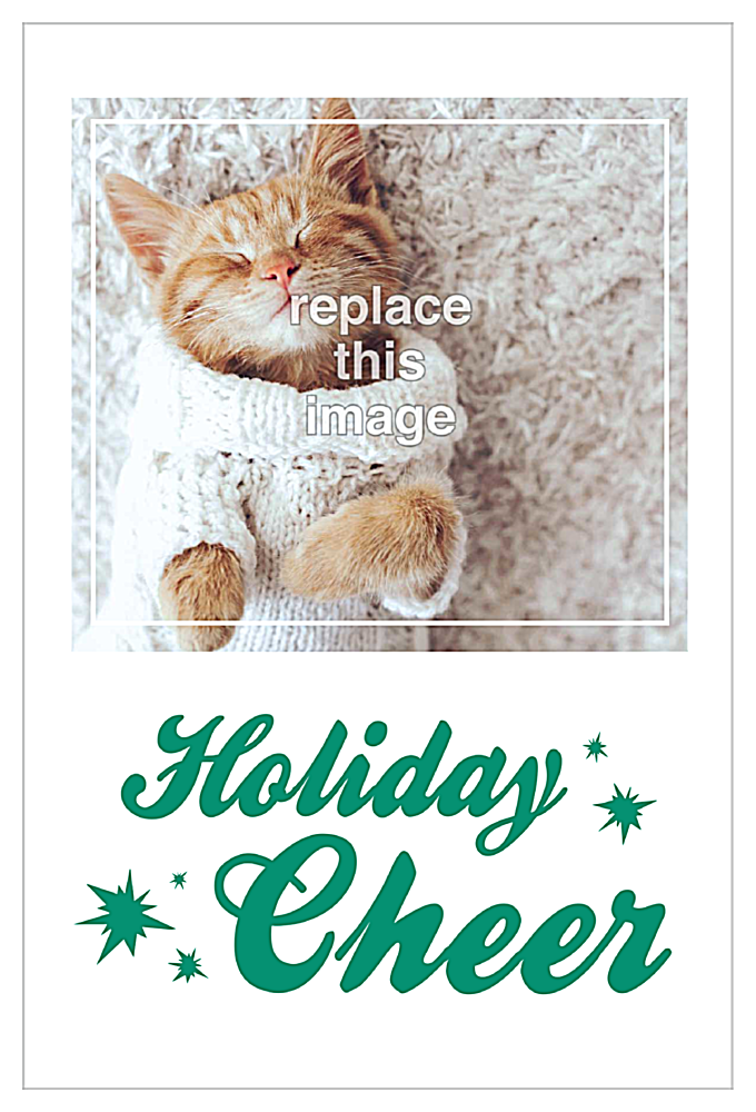 Comfort and Cheer front - Invitation Cards Maker