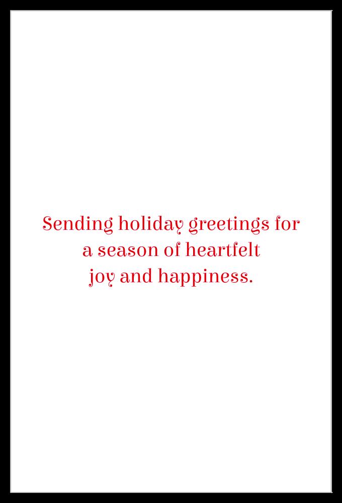Holiday Friends back - Invitation Cards Maker