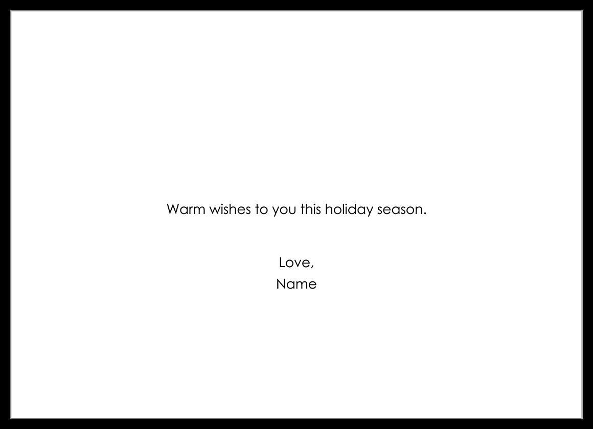 Holiday Glitterati back - Invitation Cards Maker