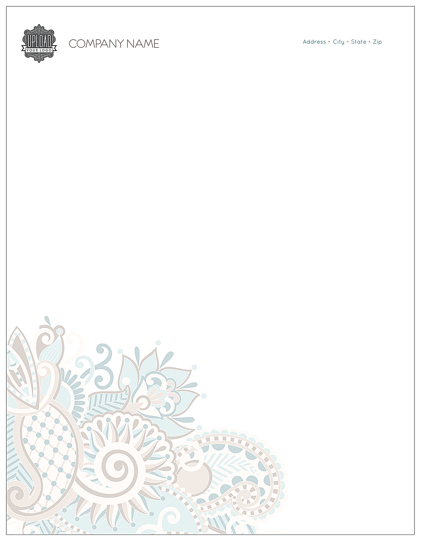 Floral Paisley front - Letterhead Maker