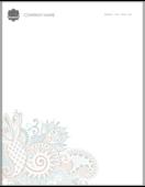 Floral Paisley - letterhead Maker