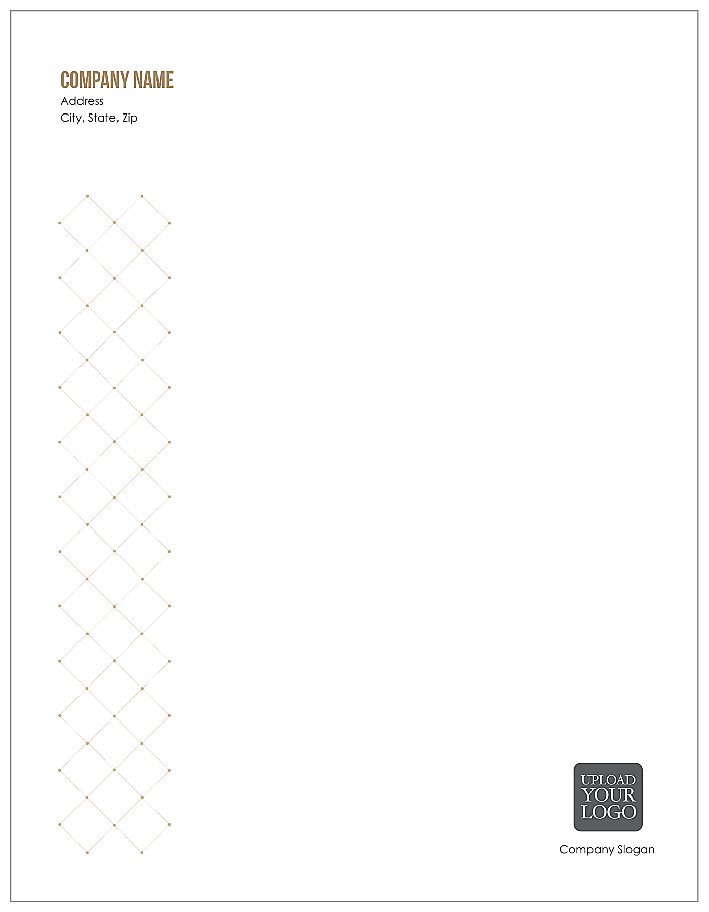Connected Dots front - Letterhead Maker