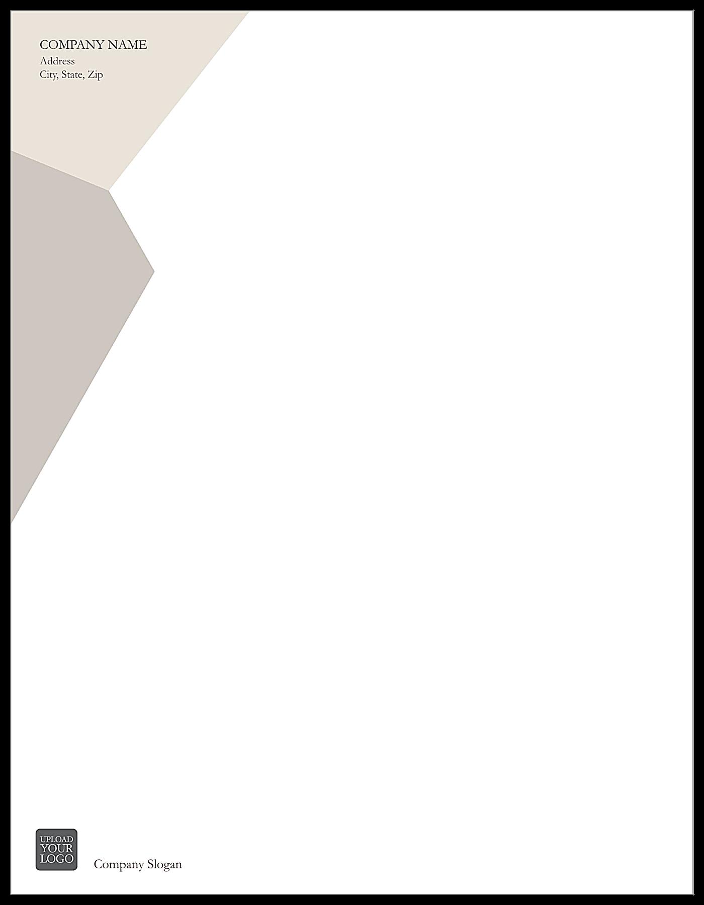 Triangular Overlap front - Letterhead Maker