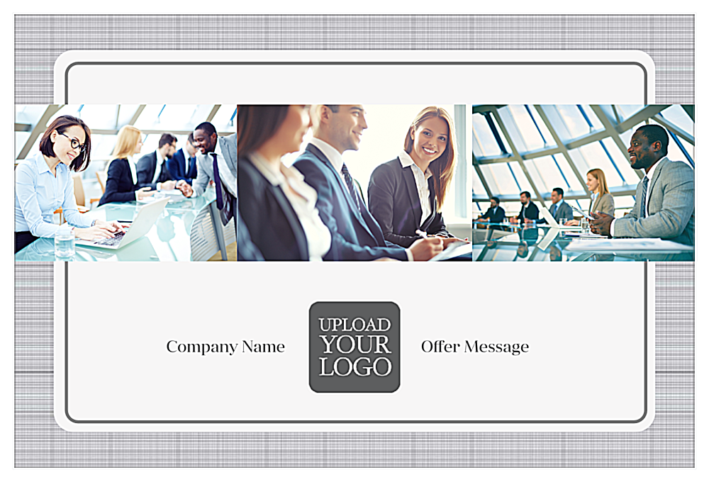 Customize Our Gray Suit Postcard Design Template front - Postcards Maker