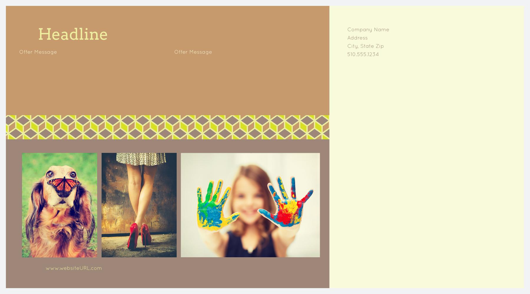 Cubic Borders back - Postcards Maker