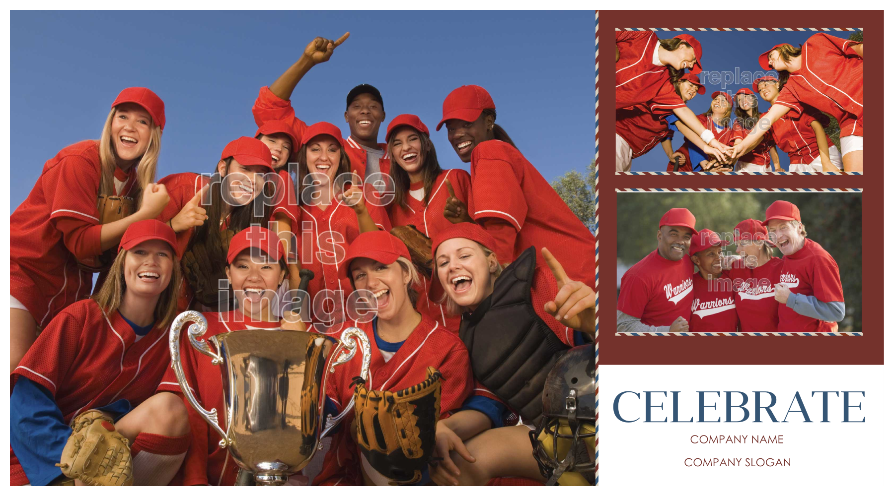 Customize Our Team Spirit Postcard Design Template front - Postcards Maker