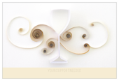 Quilling Wine Glass - postcards Maker